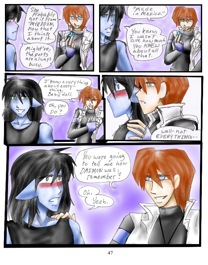 It's pretty easy for Blue to get distracted. XD