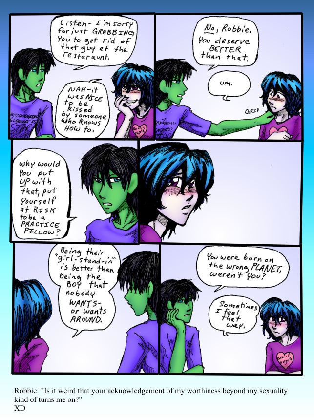 Green being all enigmatic XD